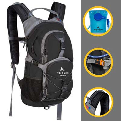 TETON Sports Oasis  Skiing Backpack, Free Hydration Bladder