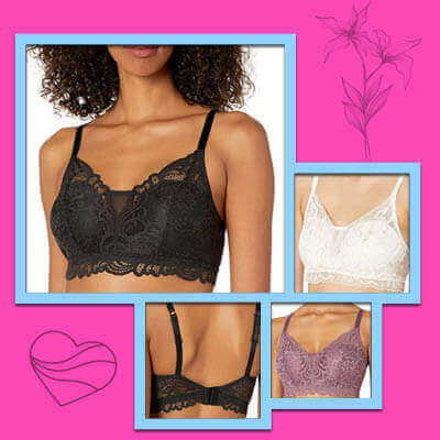 Bali lace desisr wireless bras for small breasts