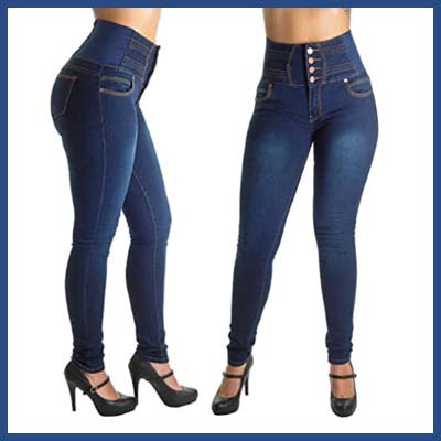 Colombian Butt Lifting High Waist Jeans