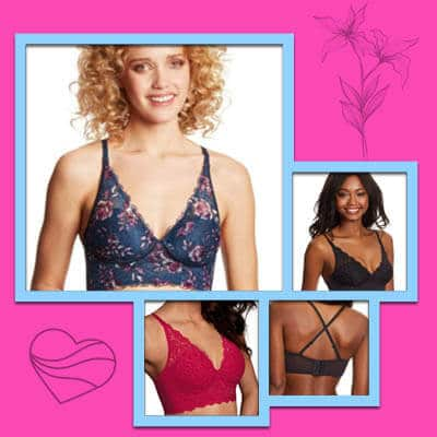 Comfort convertible bralette wire-free for small breasts