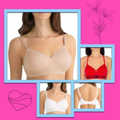 Fruit of the loom seamless wire-free bras for small breasts
