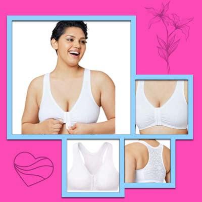 Full Figure Plus Size Complete Comfort Wirefree Cotton Bra
