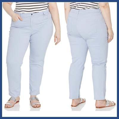 GLORIA VAIVDERI High Rise Jeans For Plus Size An Apple Shape