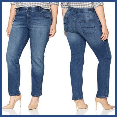 Flex Motion Regular Fit Jeans For Plus Size An Apple Shape