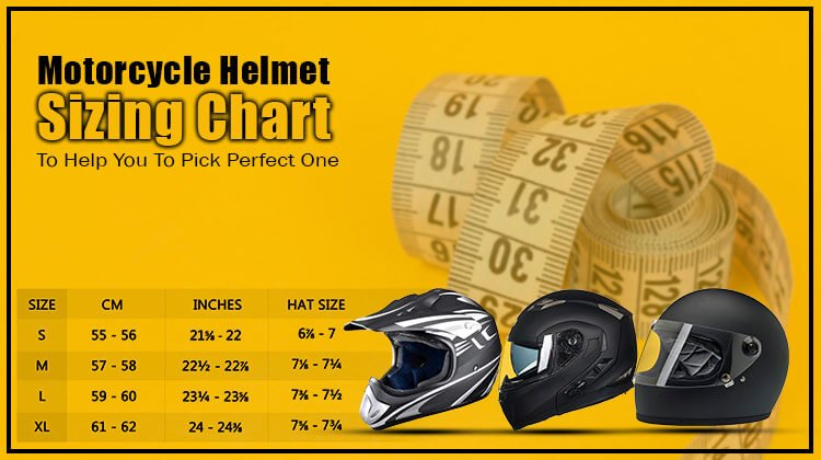 Motorcycle Helmet Sizing Chart To Help You To Pick Perfect One